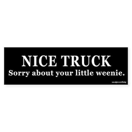 Nice Truck Little Weenie Bumper Sticker
