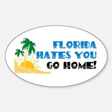 Go Home Oval Decal