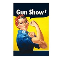Rosie Riveter Gun Show Postcards (Package of 8)