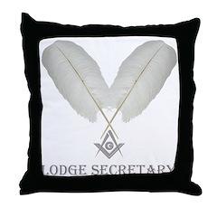 Masonic Secretary Throw Pillow