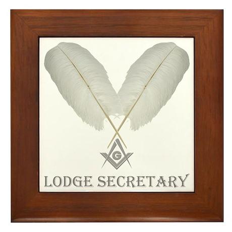Masonic Secretary Framed Tile