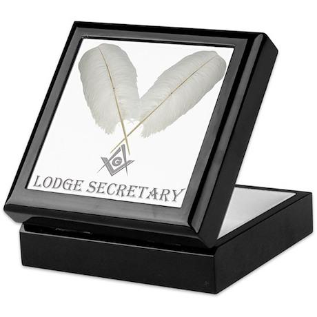 Masonic Secretary Keepsake Box