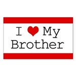 I Heart My Brother Rectangle Sticker 50 pk)