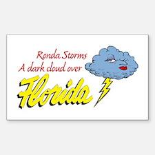 Storms A Dark Cloud Rectangle Decal