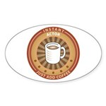 Instant Actor Oval Sticker (10 pk)