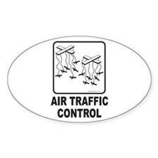 Air Traffic Control Oval Decal
