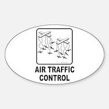 Air Traffic Control Oval Decal