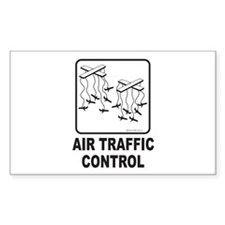 Air Traffic Control Rectangle Decal