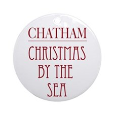 """Chatham Christmas By The Sea"" Round Ornament"