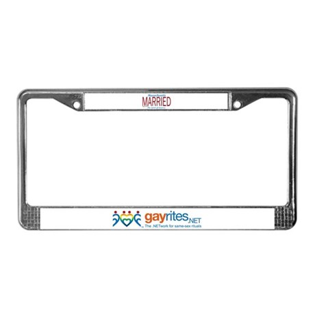 Massachusetts Marriage Equalit License Plate Frame