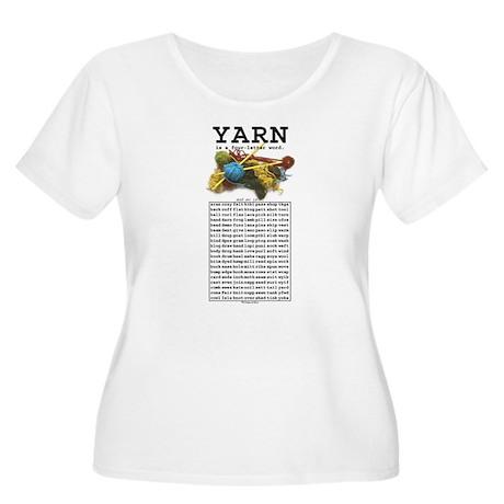 Yarn is a 4 Letter Word Women's Plus Size Scoop Ne