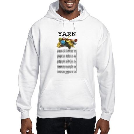 Yarn is a 4 Letter Word Hooded Sweatshirt