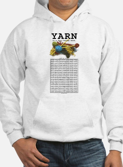 Yarn is a 4 Letter Word Hoodie