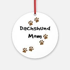 Dachshund Mom Ornament (Round)