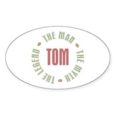 Tom Man Myth Legend Oval Decal