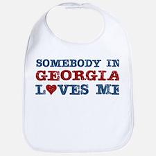 Somebody in Georgia Loves Me Bib