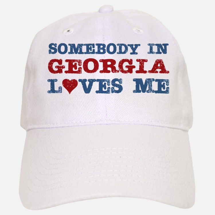 Somebody in Georgia Loves Me Baseball Baseball Cap