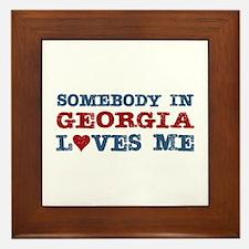 Somebody in Georgia Loves Me Framed Tile
