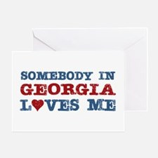 Somebody in Georgia Loves Me Greeting Card