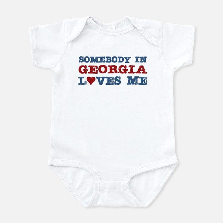 Somebody in Georgia Loves Me Infant Bodysuit