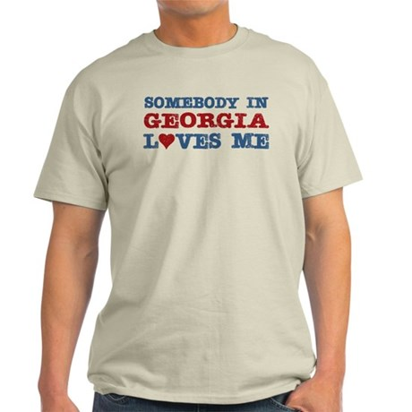 Somebody in Georgia Loves Me Light T-Shirt