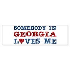 Somebody in Georgia Loves Me Bumper Bumper Sticker