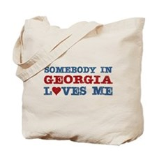 Somebody in Georgia Loves Me Tote Bag