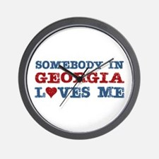 Somebody in Georgia Loves Me Wall Clock