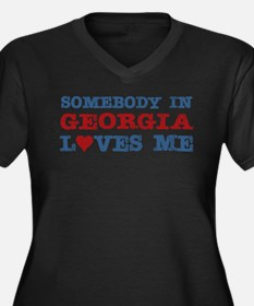 Somebody in Georgia Loves Me Women's Plus Size V-N