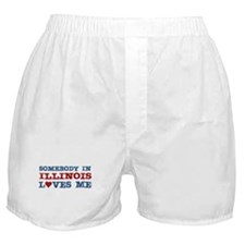 Somebody in Illinois Loves Me Boxer Shorts