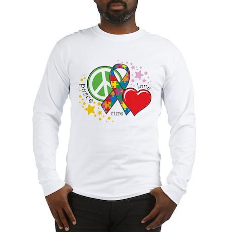 Autism: Peace Love Cure Long Sleeve T-Shirt