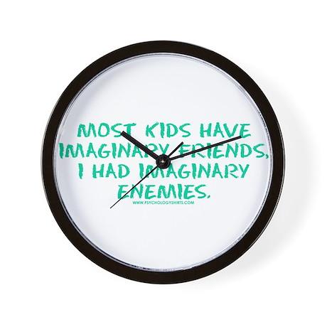 I Had Imaginary Enemies Wall Clock