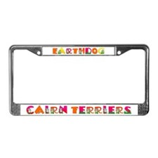 Cairn Terrier Earthdog License Plate Frame