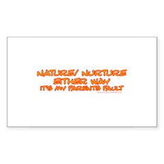 My Parents Fault Rectangle Sticker 50 pk)