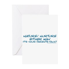 Your Parents Fault Greeting Cards (Pk of 20)