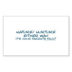 Your Parents Fault Rectangle Sticker 10 pk)