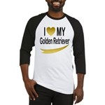 I Love My Golden Retriever Baseball Jersey