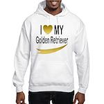 I Love My Golden Retriever Hooded Sweatshirt