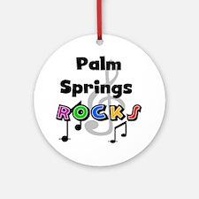 Palm Springs Rocks Ornament (Round)