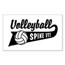 Volleyball Rectangle Decal