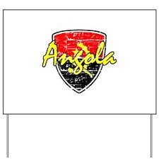 Angolan distressed flag Yard Sign