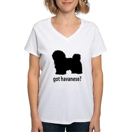 Got Havanese? Women's V-Neck T-Shirt