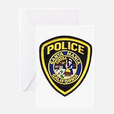 Santa Maria Police Greeting Card