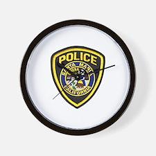 Santa Maria Police Wall Clock