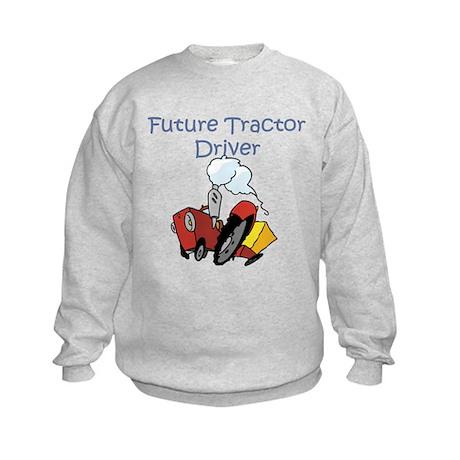 Cute Future Tractor Driver Kids Sweatshirt