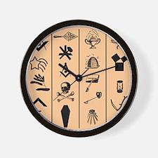 Master Mason Carpet No. 2 Wall Clock