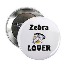 "Zebra Lover 2.25"" Button"