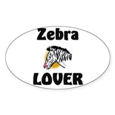 Zebra Lover Oval Decal