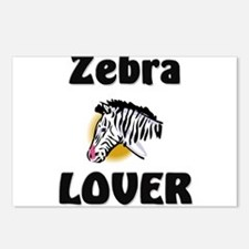 Zebra Lover Postcards (Package of 8)