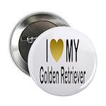 I Love My Golden Retriever Button